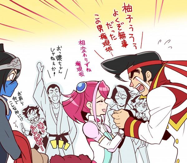 Tags: Anime, Chikariya, Yu-Gi-Oh! ARC-V, Yu-Gi-Oh!, Hiiragi Yuzu, Tsukikage (Yu-Gi-Oh! ARC-V), Kurosaki Shun, Chojiro Tokumatsu, Sawatari Shingo, Shinji Weber, Gongenzaka Noboru, Rin (Yu-Gi-Oh! ARC-V), No Nose