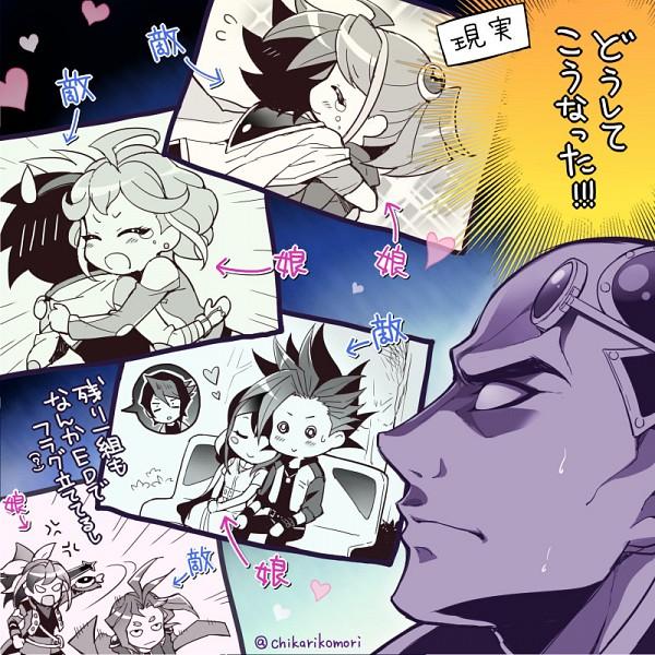 Tags: Anime, Chikariya, Yu-Gi-Oh! ARC-V, Yu-Gi-Oh!, Yuugo (Yu-Gi-Oh! ARC-V), Akaba Leo, Kurosaki Shun, Serena (Yu-Gi-Oh! ARC-V), Yuto (Yu-Gi-Oh! ARC-V), Kurosaki Ruri, Hiiragi Yuzu, Yuuri (Yu-Gi-Oh! ARC-V), Sakaki Yuya