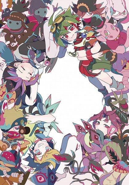 Tags: Anime, Pixiv Id 18226743, Yu-Gi-Oh! ARC-V, Yu-Gi-Oh!, Yuugo (Yu-Gi-Oh! ARC-V), Speedroid Tri-Eyed Dice, Performapal Whip Snake, Phantom Knights of Silent Boots, Predaplant Ophrys Scorpio, Dark Rebellion Xyz Dragon, Odd-Eyes Pendulum Dragon, Phantom Knights of Ancient Cloak, Speedroid Den-Den Daiko Duke