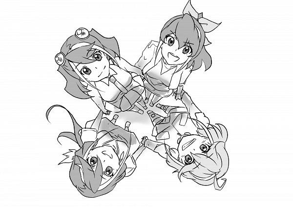 Tags: Anime, Yu-Gi-Oh! ARC-V, Yu-Gi-Oh!, Rin (Yu-Gi-Oh! ARC-V), Serena (Yu-Gi-Oh! ARC-V), Kurosaki Ruri, Hiiragi Yuzu, Twitter, Fanart