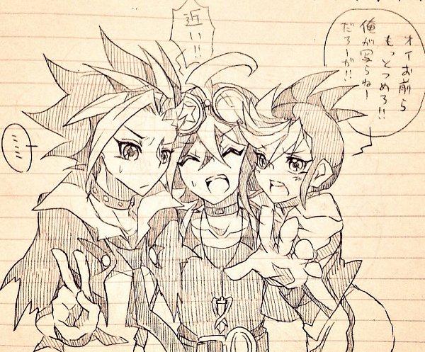 Tags: Anime, Pixiv Id 12315809, Yu-Gi-Oh! ARC-V, Yu-Gi-Oh!, Sakaki Yuya, Yuugo (Yu-Gi-Oh! ARC-V), Yuto (Yu-Gi-Oh! ARC-V), Fanart, Fanart From Pixiv, Pixiv