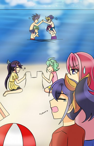 Tags: Anime, Yu-Gi-Oh!, Yu-Gi-Oh! ARC-V, Rin (Yu-Gi-Oh! ARC-V), Yuto (Yu-Gi-Oh! ARC-V), Serena (Yu-Gi-Oh! ARC-V), Hiiragi Yuzu, Kurosaki Ruri, Sakaki Yuya, Yuuri (Yu-Gi-Oh! ARC-V), Yuugo (Yu-Gi-Oh! ARC-V), Tumblr, Artist Request