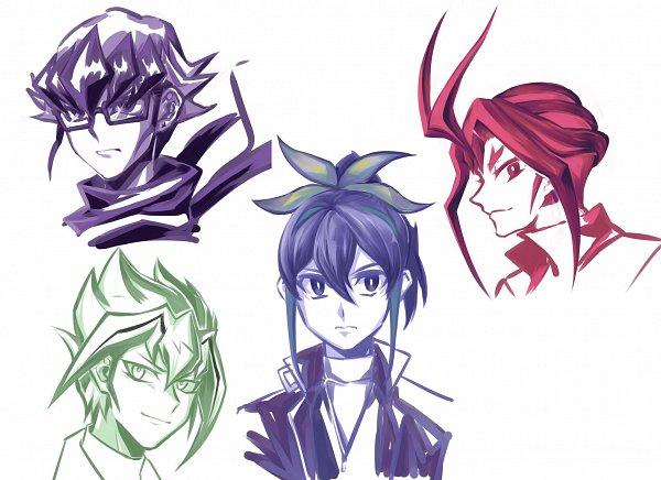 Tags: Anime, Yu-Gi-Oh!, Yu-Gi-Oh! ARC-V, Yuuri (Yu-Gi-Oh! ARC-V), Akaba Reiji, Zarc, Serena (Yu-Gi-Oh! ARC-V), Fanart, Twitter