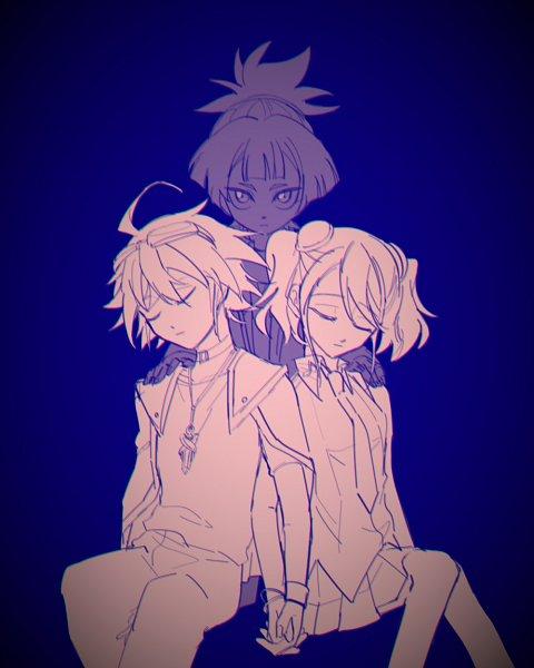 Tags: Anime, Yu-Gi-Oh! ARC-V, Yu-Gi-Oh!, Hiiragi Yuzu, Sakaki Yuya, Shiunin Sora, Fanart, Twitter