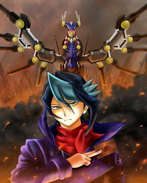 Tags: Anime, Pixiv Id 15001383, Yu-Gi-Oh!, Yu-Gi-Oh! ARC-V, Kurosaki Shun, Raidraptor - Revolution Falcon, Fanart, Fanart From Pixiv, Pixiv