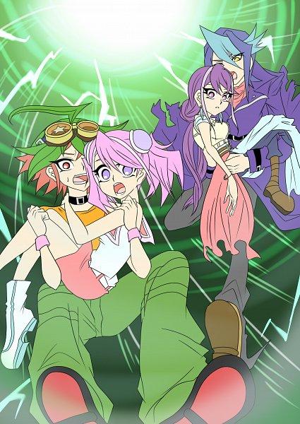 Tags: Anime, Pixiv Id 10907009, Yu-Gi-Oh! GX, Yu-Gi-Oh!, Yu-Gi-Oh! ARC-V, Hiiragi Yuzu, Sakaki Yuya, Kurosaki Ruri, Kurosaki Shun, Pixiv, Fanart, Fanart From Pixiv, YuyaYuzu