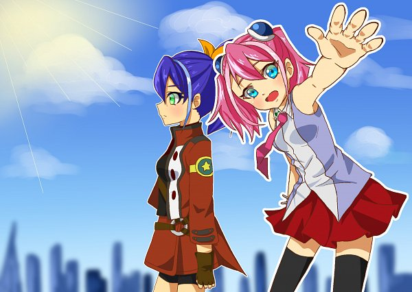 Tags: Anime, Pixiv Id 10571225, Yu-Gi-Oh! ARC-V, Yu-Gi-Oh!, Serena (Yu-Gi-Oh! ARC-V), Hiiragi Yuzu, Fanart From Pixiv, Pixiv, Fanart