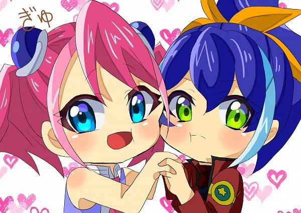 Tags: Anime, Pixiv Id 10571225, Yu-Gi-Oh! ARC-V, Yu-Gi-Oh!, Hiiragi Yuzu, Serena (Yu-Gi-Oh! ARC-V), Fanart, Fanart From Pixiv, Pixiv
