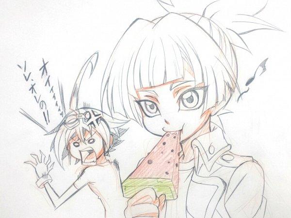 Tags: Anime, Yu-Gi-Oh!, Yu-Gi-Oh! ARC-V, Shiunin Sora, Sakaki Yuya, Sorayuya, Fanart, Sketch