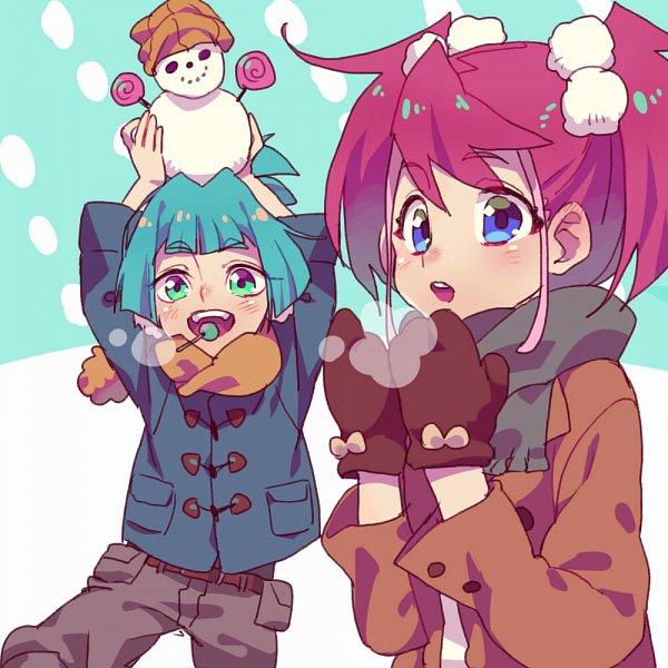 Tags: Anime, mune_donidoni, Yu-Gi-Oh!, Yu-Gi-Oh! ARC-V, Hiiragi Yuzu, Shiunin Sora, Pixiv, Fanart, Twitter, Fanart From Pixiv