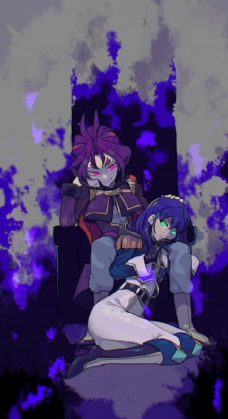 Tags: Anime, mune_donidoni, Yu-Gi-Oh!, Yu-Gi-Oh! ARC-V, Serena (Yu-Gi-Oh! ARC-V), Yuuri (Yu-Gi-Oh! ARC-V), Obelisk Force Uniform, Fanart From Pixiv, Pixiv, Fanart, Twitter, YuriSere