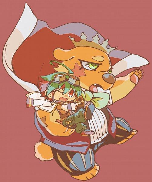 Tags: Anime, Pixiv Id 43950984, Yu-Gi-Oh!, Yu-Gi-Oh! ARC-V, Sakaki Yuya, Performapal King Bear, Fanart, Fanart From Pixiv, Pixiv