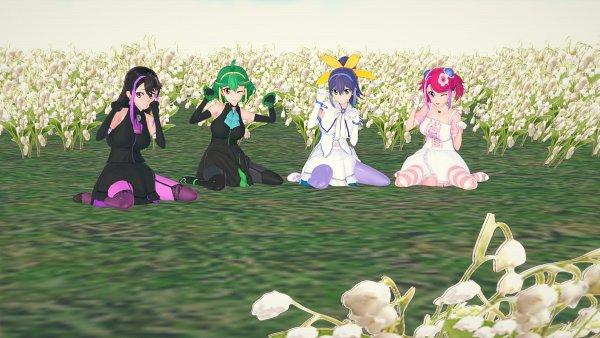 Tags: Anime, Pixiv Id 4320784, Yu-Gi-Oh! ARC-V, Yu-Gi-Oh!, Hiiragi Yuzu, Rin (Yu-Gi-Oh! ARC-V), Serena (Yu-Gi-Oh! ARC-V), Kurosaki Ruri, Pixiv, 3D, Wallpaper, Fanart From Pixiv, PNG Conversion