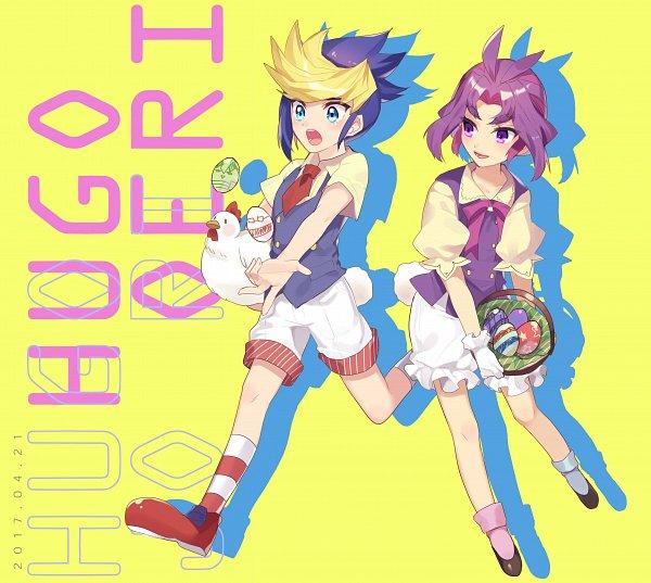 Tags: Anime, Pixiv Id 3042037, Yu-Gi-Oh!, Yu-Gi-Oh! ARC-V, Yuuri (Yu-Gi-Oh! ARC-V), Yuugo (Yu-Gi-Oh! ARC-V), Fanart, Twitter, Fanart From Pixiv, Pixiv, YugoYuri