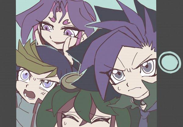 Tags: Anime, Su Pa Taco, Yu-Gi-Oh!, Yu-Gi-Oh! ARC-V, Yuugo (Yu-Gi-Oh! ARC-V), Yuto (Yu-Gi-Oh! ARC-V), Sakaki Yuya, Yuuri (Yu-Gi-Oh! ARC-V), Fanart From Pixiv, Pixiv, Fanart, Twitter