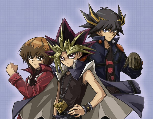 Tags: Anime, Kuro02, Yu-Gi-Oh! Bonds Beyond Time, Yu-Gi-Oh! 5D's, Yu-Gi-Oh!, Yu-Gi-Oh! Duel Monsters, Yu-Gi-Oh! GX, Juudai Yuuki, Yami Yugi, Mutou Yuugi, Fudou Yuusei, Chain Necklace, Fanart