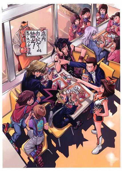 Tags: Anime, Takahashi Kazuki, Yu-Gi-Oh! Duel Monsters, Yu-Gi-Oh!, Ryuuji Otogi, Jounouchi Katsuya, Honda Hiroto, Bakura Ryou, Mutou Yuugi, Mazaki Anzu, Duel Art, Mobile Wallpaper