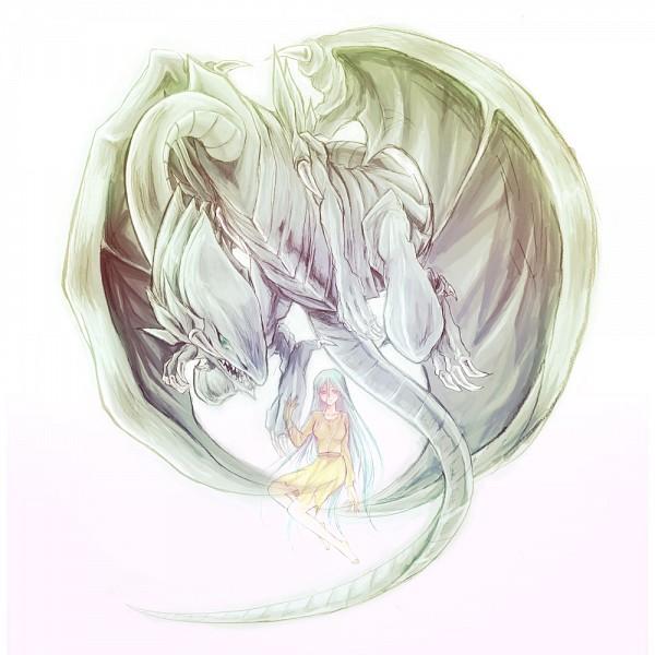 Tags: Anime, Pixiv Id 1533324, Yu-Gi-Oh! Duel Monsters, Yu-Gi-Oh!, Kisara, Blue-Eyes White Dragon, Pixiv, Fanart