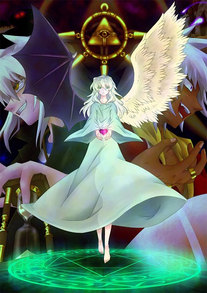 Tags: Anime, Pixiv Id 591010, Yu-Gi-Oh! Duel Monsters, Yu-Gi-Oh!, Bakura Ryou, Thief King Bakura, Yami Bakura, Millennium Ring, Pixiv, Fanart From Pixiv, Mobile Wallpaper, Fanart