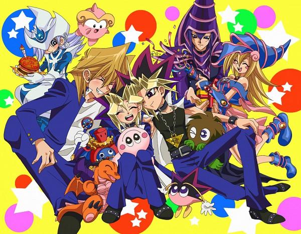 Tags: Anime, Pixiv Id 245738, Yu-Gi-Oh! Duel Monsters, Yu-Gi-Oh!, Baby Dragon (Yu-Gi-Oh! Duel Monsters), Yami Yugi, Time Wizard, Silent Magician, Dark Magician Girl, Marshmallon, Dark Magician, Kuriboh, Mutou Yuugi