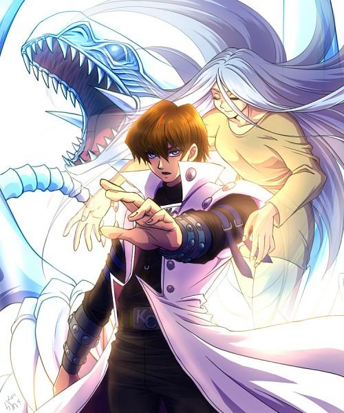Tags: Anime, Pixiv Id 393534, Yu-Gi-Oh!, Yu-Gi-Oh! Duel Monsters, Blue-Eyes White Dragon, Kisara, Kaiba Seto, Transparent Body, Transparent Hair, Fanart, Pixiv, Fanart From Pixiv, SetoKisa