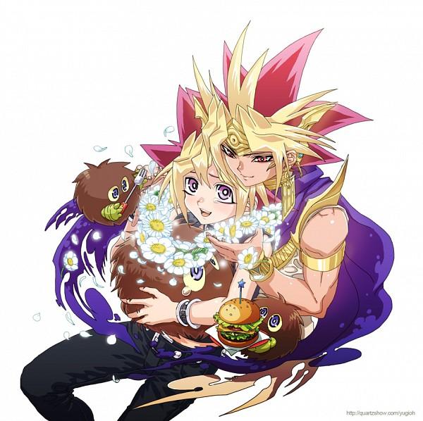 Tags: Anime, Pixiv Id 538353, Yu-Gi-Oh! Duel Monsters, Yu-Gi-Oh!, Mutou Yuugi, Pharaoh Atem, Kuriboh, Yami Yugi, Fast Food, Fanart From Pixiv, Pixiv, Fanart, AtemOmo