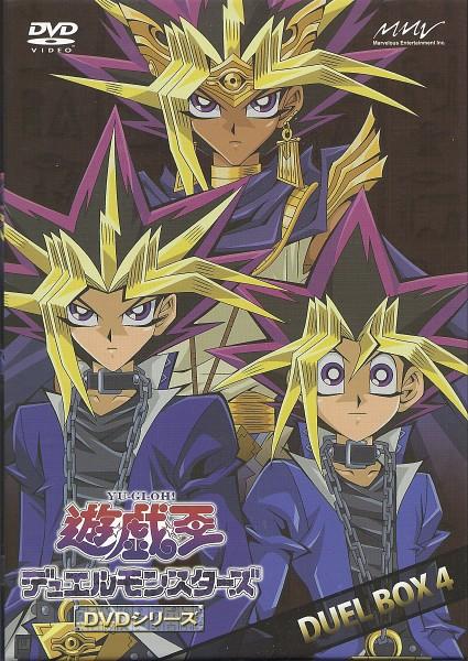 Tags: Anime, Takahashi Kazuki, Yu-Gi-Oh!, Yu-Gi-Oh! Duel Monsters, Yami Yugi, Mutou Yuugi, Pharaoh Atem, King, Leather Clothes, Leather Jacket, Official Art, Mobile Wallpaper, Scan