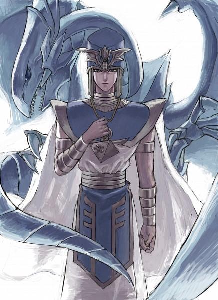 Tags: Anime, Pixiv Id 2484498, Yu-Gi-Oh!, Yu-Gi-Oh! Duel Monsters, Priest Seto, Kaiba Seto, Blue-Eyes White Dragon, Egyptian Clothes, Fanart From Pixiv, Mobile Wallpaper, Pixiv, Fanart