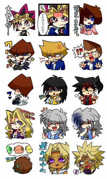 Tags: Anime, Yu-Gi-Oh!, Yu-Gi-Oh! Duel Monsters, Kaiba Mokuba, Yami Marik, Scapegoat, Ryuuji Otogi, Honda Hiroto, Marik Ishtar, Mutou Yuugi, Jounouchi Katsuya, Bakura Ryou, Yami Bakura