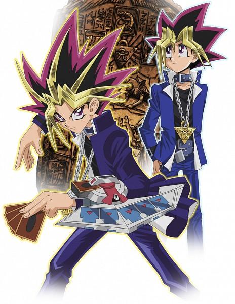 Tags: Anime, Studio Gallop, Yu-Gi-Oh! Duel Monsters, Yu-Gi-Oh!, Mutou Yuugi, Yami Yugi, Stone Wall, PNG Conversion, Official Art