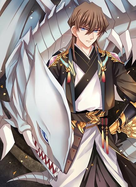 Tags: Anime, Pixiv Id 2402082, Yu-Gi-Oh!, Yu-Gi-Oh! Duel Monsters, Kaiba Seto, Blue-Eyes White Dragon, Fanart From Pixiv, Fanart, Pixiv, Mobile Wallpaper