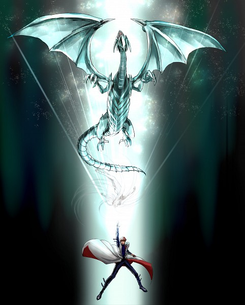 Tags: Anime, Pixiv Id 264758, Yu-Gi-Oh! Duel Monsters, Yu-Gi-Oh!, Kaiba Seto, Blue-Eyes White Dragon, Fanart From Pixiv, PNG Conversion, Fanart, Pixiv
