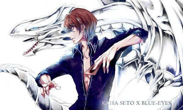 Tags: Anime, Pixiv Id 2999205, Yu-Gi-Oh! Duel Monsters, Yu-Gi-Oh!, Blue-Eyes White Dragon, Kaiba Seto, Fanart From Pixiv, Pixiv, Fanart, Wallpaper