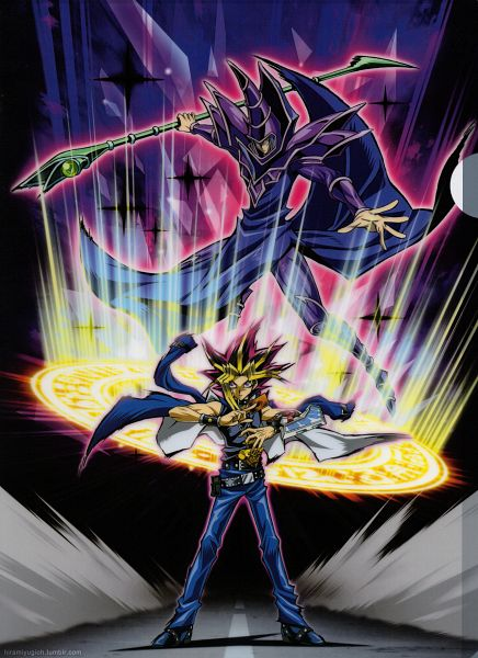 Tags: Anime, Studio Gallop, Yu-Gi-Oh! Duel Monsters, Yu-Gi-Oh!, Yami Yugi, Dark Magician, Official Art, Shitajiki