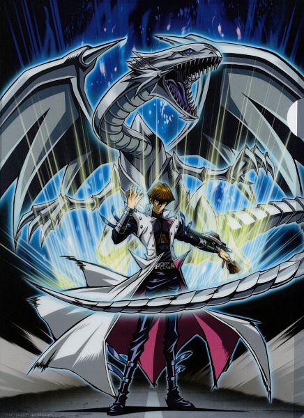 Tags: Anime, Studio Gallop, Yu-Gi-Oh! Duel Monsters, Yu-Gi-Oh!, Kaiba Seto, Blue-Eyes White Dragon, Official Art, Shitajiki