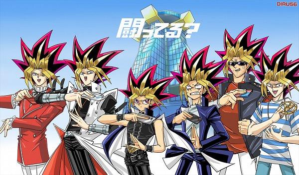 Tags: Anime, Diru56, Yu-Gi-Oh!, Yu-Gi-Oh! Duel Monsters, Yami Yugi, Pegasus J. Crawford, Bandit Keith, Yami Bakura, Jounouchi Katsuya, Kaiba Seto, Millennium Eye, iPhone, Holding Phone