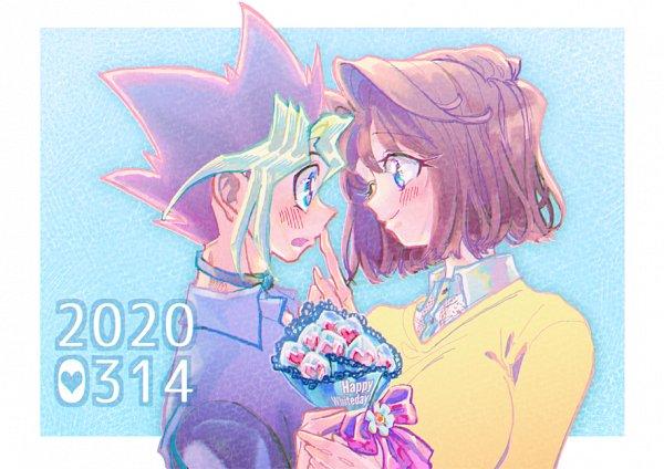 Tags: Anime, Pixiv Id 40596161, Yu-Gi-Oh!, Yu-Gi-Oh! Duel Monsters, Mazaki Anzu, Mutou Yuugi, Fanart, Fanart From Pixiv, Pixiv, OmoAn