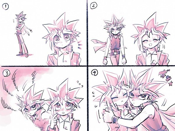 Tags: Anime, Yu-Gi-Oh!, Yu-Gi-Oh! Duel Monsters, Yami Yugi, Mutou Yuugi, Fanart, AtemOmo