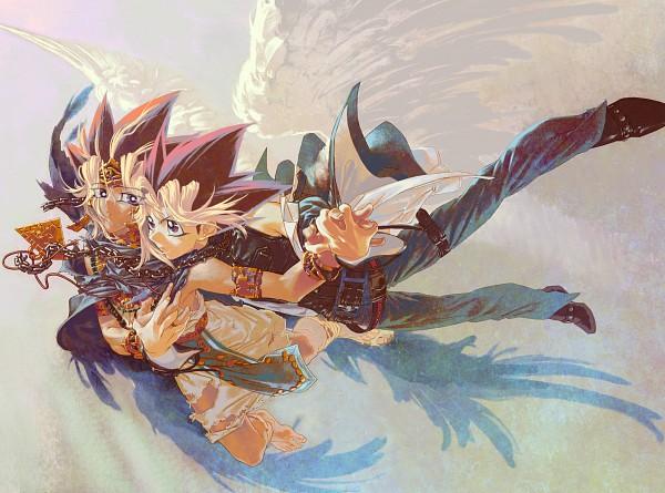 Tags: Anime, Yu-Gi-Oh! Duel Monsters, Yu-Gi-Oh!, Yami Yugi, Pharaoh Atem, Mutou Yuugi, Egyptian Clothes, Fanart, Artist Request, AtemOmo