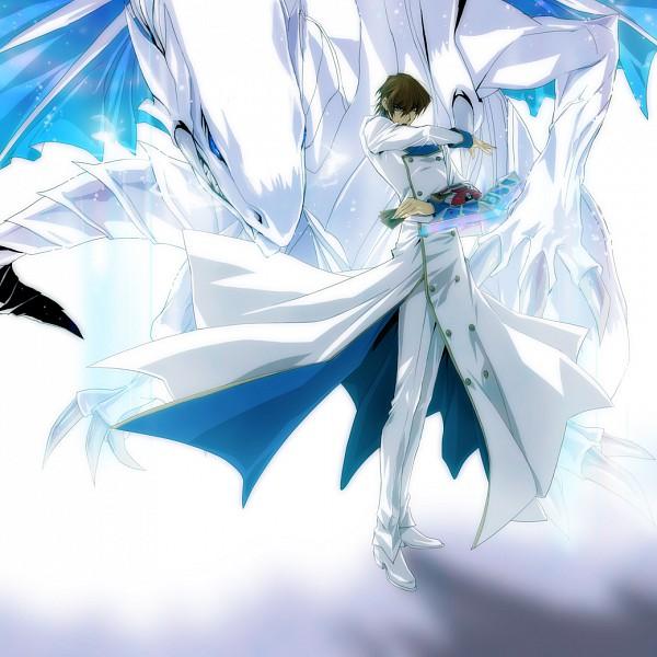 Tags: Anime, Tom (Leciel2010), Yu-Gi-Oh! Duel Monsters, Yu-Gi-Oh!, Kaiba Seto, Blue-Eyes White Dragon, Fanart From Pixiv, Fanart, Pixiv