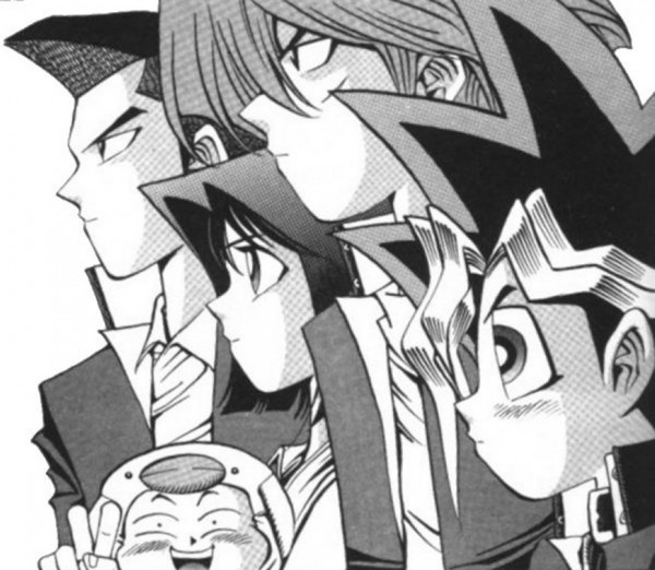 Tags: Anime, Takahashi Kazuki, Studio Gallop, Yu-Gi-Oh!, Yu-Gi-Oh! Duel Monsters, Mutou Yuugi, Honda Hiroto, Mazaki Anzu, Jounouchi Katsuya, 5p. M. F, Scan, Manga Page