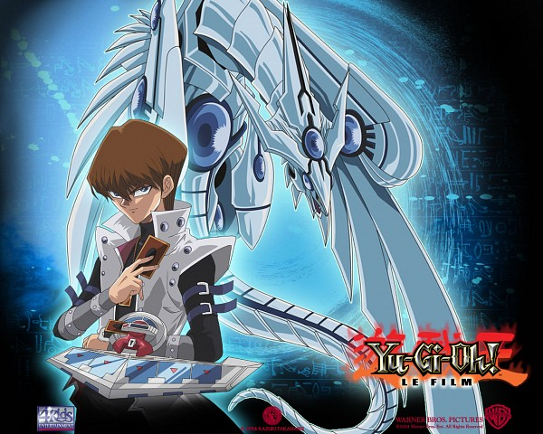 Tags: Anime, Studio Gallop, Yu-Gi-Oh! Duel Monsters, Yu-Gi-Oh!, Kaiba Seto, Blue-Eyes Shining Dragon, Official Art, Official Wallpaper, Wallpaper