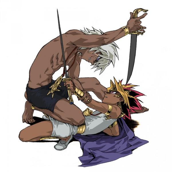 Tags: Anime, Pixiv Id 88421, Yu-Gi-Oh! Duel Monsters, Yu-Gi-Oh!, Pharaoh Atem, Thief King Bakura, Yami Bakura, Yami Yugi, Millennium Ring, Egyptian Clothes, Pixiv, Fanart, Fanart From Pixiv