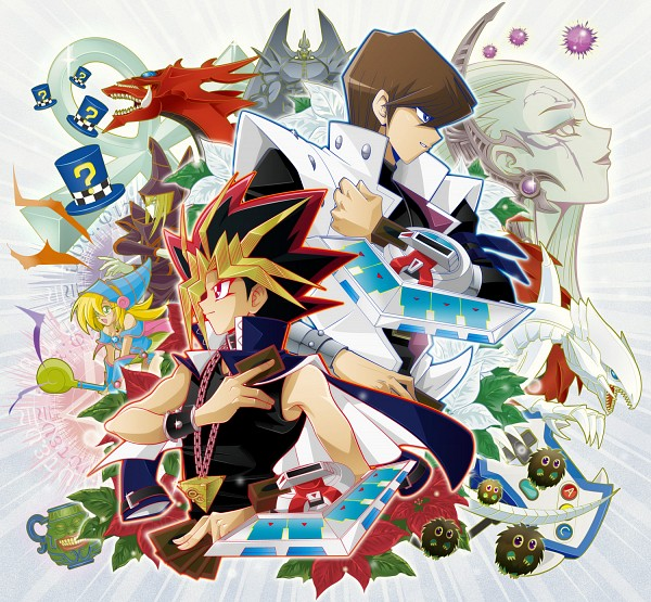 Tags: Anime, Pixiv Id 318895, Yu-Gi-Oh!, Yu-Gi-Oh! Duel Monsters, Yami Yugi, Obelisk the Tormenter, Blue-Eyes White Dragon, Pot of Greed, Dark Magician Girl, Kuriboh, Dark Magician, Slifer the Sky Dragon, Kaiba Seto