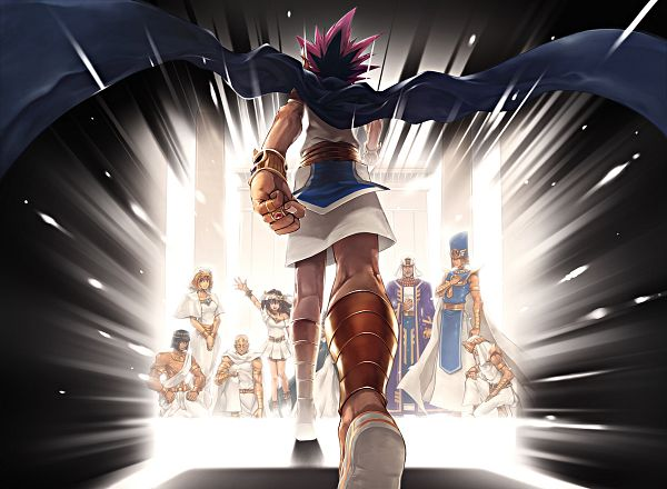 Tags: Anime, Pixiv Id 68823, Yu-Gi-Oh!, Yu-Gi-Oh! Duel Monsters, Yami Yugi, Mahad, Aknamkanon, Priest Seto, Mana (Yu-Gi-Oh! Duel Monsters), Pharaoh Atem, Priest Shada, Ishizu Ishtar, Mutou Sugoroku