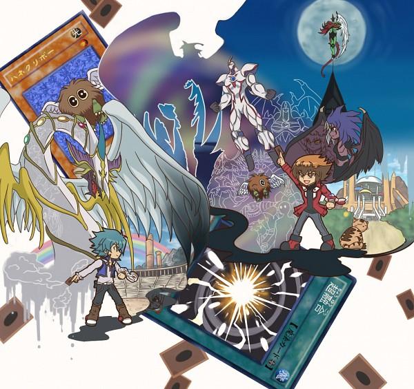 Tags: Anime, Pixiv Id 642908, Yu-Gi-Oh! GX, Yu-Gi-Oh!, Yubel, Rainbow Neos, Elemental HERO Neos, Johan Andersen, Rainbow Dragon, Neo-Spacian Aqua Dolphin, Winged Kuriboh, Pharaoh (Cat), Elemental HERO Flame Wingman