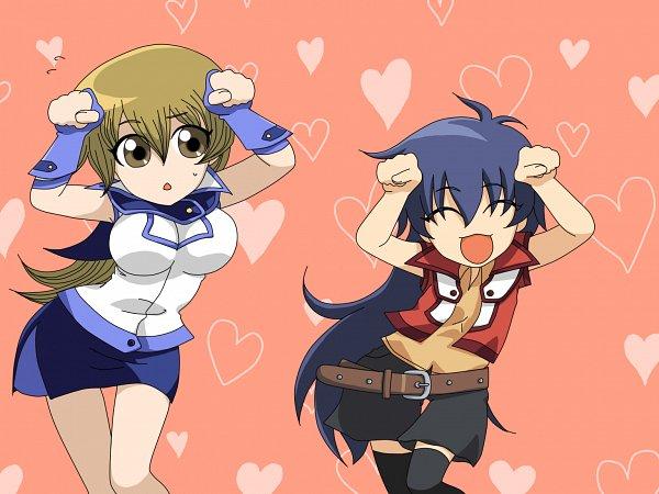 Tags: Anime, Pixiv Id 952241, Yu-Gi-Oh!, Yu-Gi-Oh! GX, Saotome Rei, Tenjouin Asuka, Caramelldansen, Fanart, Fanart From Pixiv, Pixiv