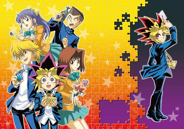 Tags: Anime, Pixiv Id 1457981, Yu-Gi-Oh! Season Zero, Yu-Gi-Oh!, Nosaka Miho, Yami Yugi, Mutou Yuugi, Honda Hiroto, Mazaki Anzu, Jounouchi Katsuya, Aqua Bow, Teal Skirt, Puzzle Piece