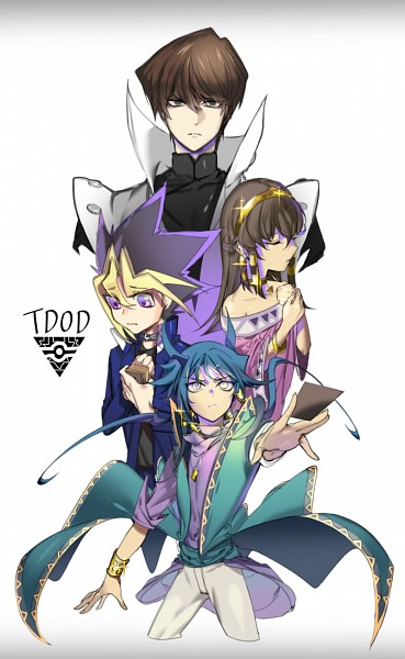 Tags: Anime, Pixiv Id 16288558, Yu-Gi-Oh! The Dark Side of Dimensions, Yu-Gi-Oh! Duel Monsters, Yu-Gi-Oh!, Kaiba Seto, Aigami, Sera (The Dark Side of Dimensions), Mutou Yuugi, Egyptian Clothes, Ankh (Object), Fanart From Pixiv, Mobile Wallpaper