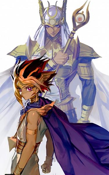 Tags: Anime, Cocashy, Yu-Gi-Oh! The Dark Side of Dimensions, Yu-Gi-Oh!, Yu-Gi-Oh! Duel Monsters, Pharaoh Atem, Mahad, Yami Yugi, Palladium Oracle Mahad, Egyptian Clothes, Fanart From Pixiv, PNG Conversion, Fanart
